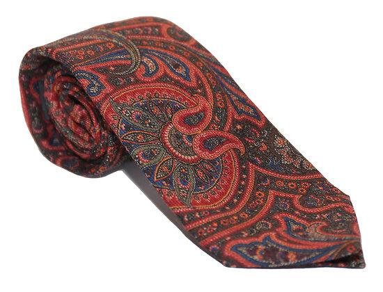 Corbata paisley roja