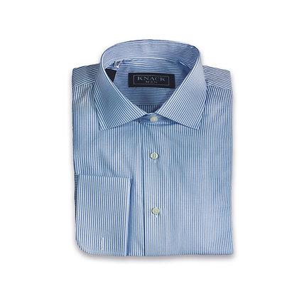 Camisa de Vestir Rayas Azules