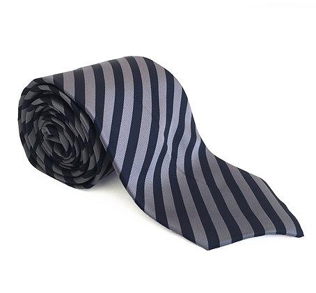 Corbata marino rayas gris