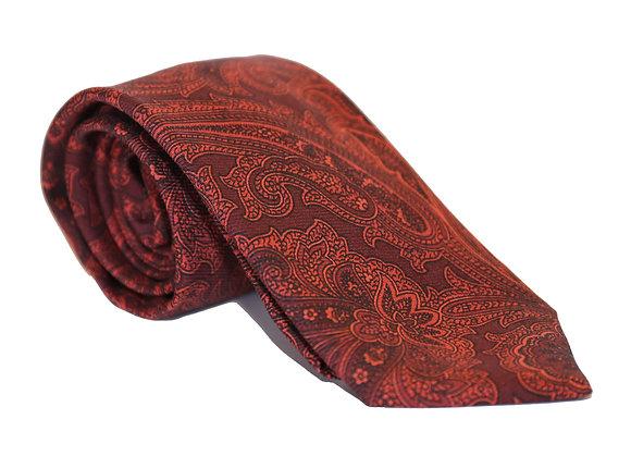 Corbata granate paisley