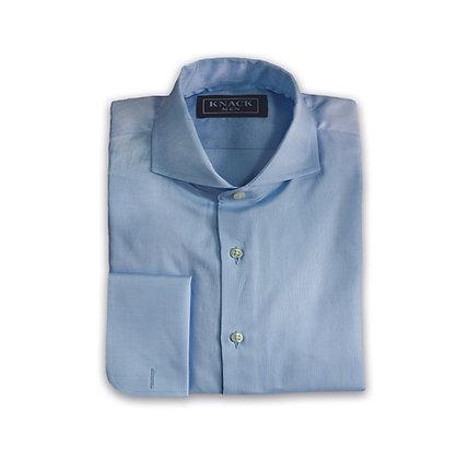 Camisa Azul Cuello Chester