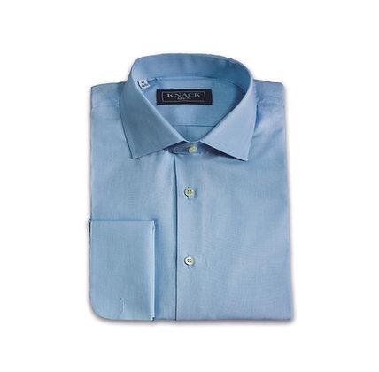 Camisa Azul Cuello Italiano