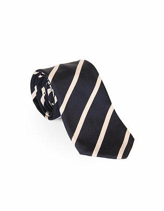 Corbata Negra Rayas Blancas