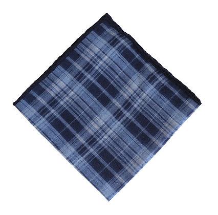 Azul cuadro escocés
