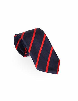 Corbata Azul Rayas Rojas