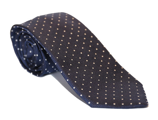 Corbata azul puntos blancos