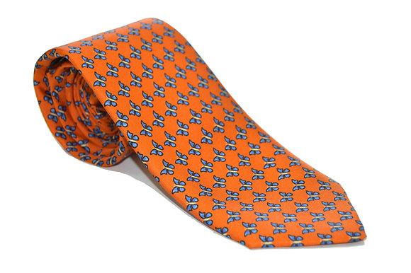 Corbata Naranja Mariposas