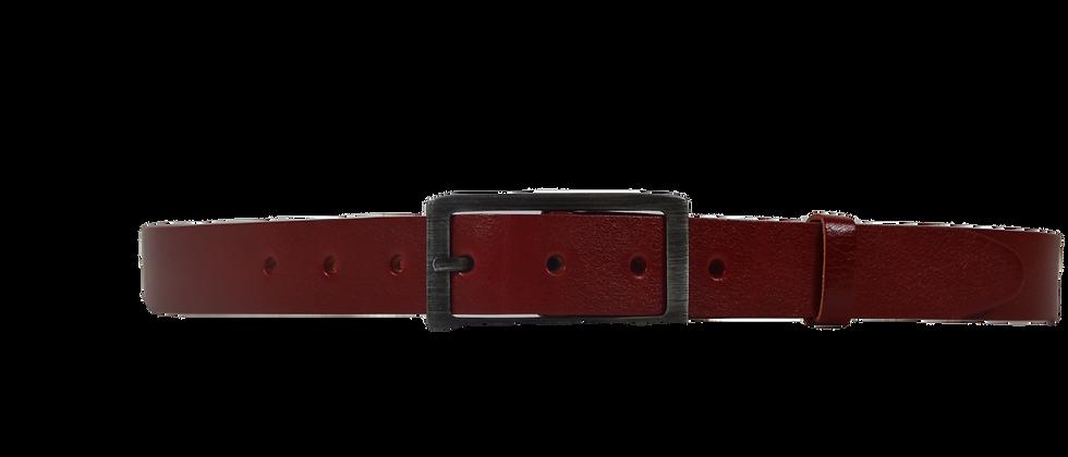 Dámský kožený opasek červený