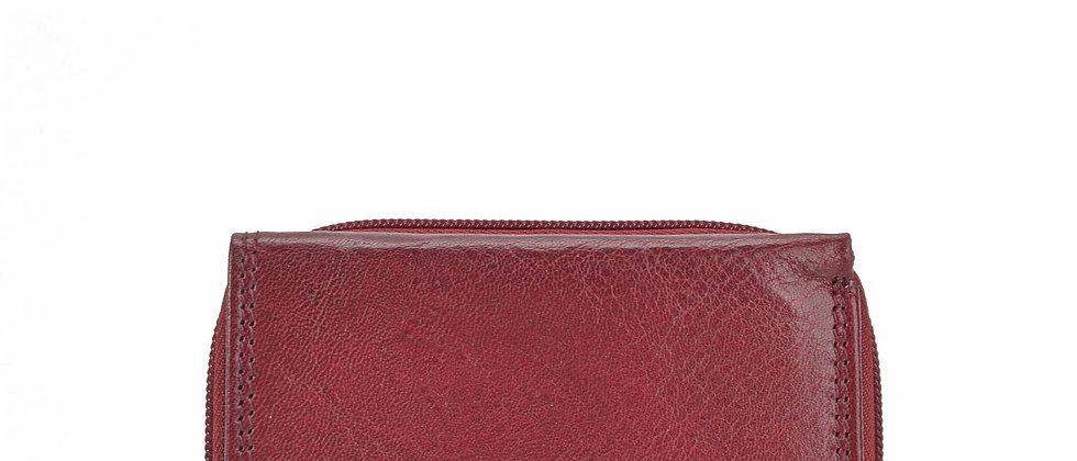 Dámská kožená peněženka vínová