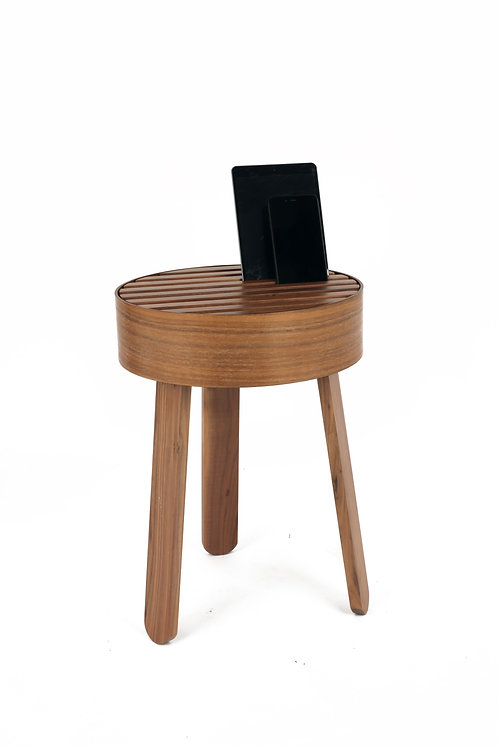 TRILL Walnut side table