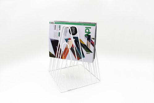Noir Magazin rack white