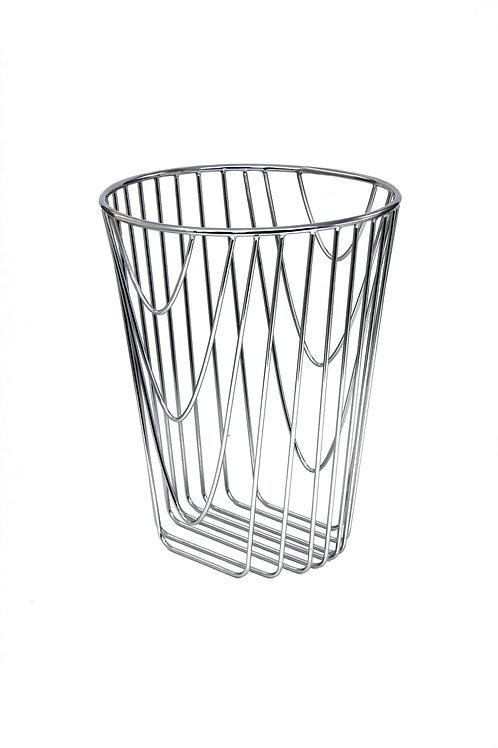 Noir Paper basket Chrome