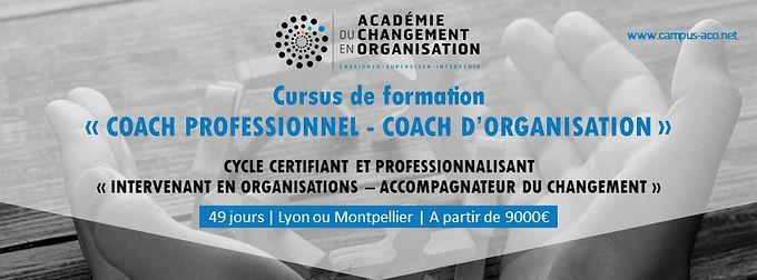 Cursus CP-CO : Coach Professionnel - Coach d'Organisation
