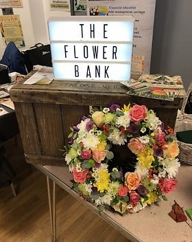 A flower bank hand made wreath