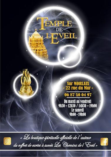 Le Temple de l'Eveil boutique spirituelle à Morlaix / Dylan Collin / Les Chemins de l'Eveil / Guy Trédaniel /