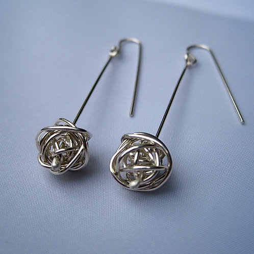 Twisted sphere earrings