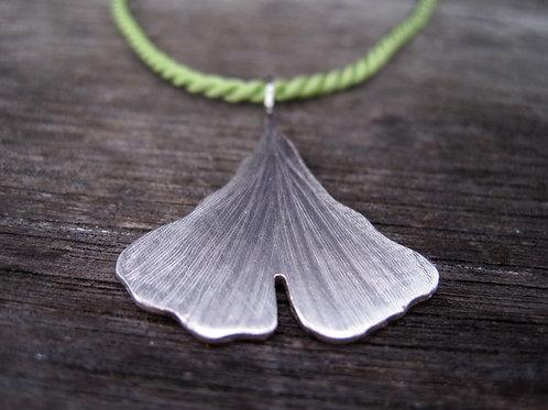 Ginkgo leaf pendant