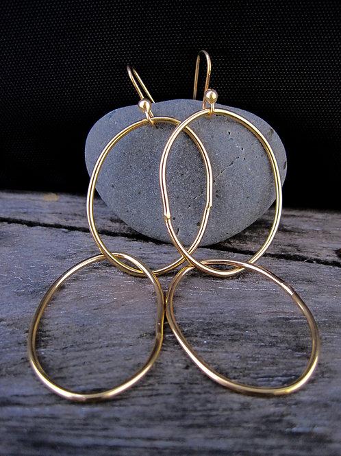 Double link earrings