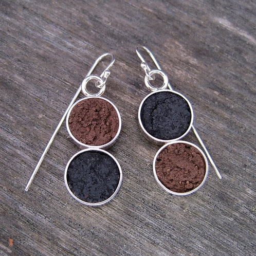 Sterling/concrete earrings