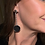 Thumbnail: Black concrete dangle earrings