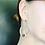 Thumbnail: Dangle loop earring with genuine stones