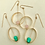 Thumbnail: Dangle loop earring with genuine stones