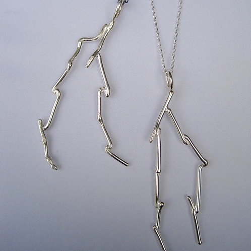 Sterling silver branch pendants