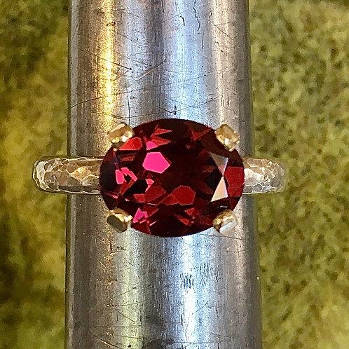 Grape garnet ring