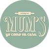Etiqueta Mums - Verde y Beige - SIN FOND