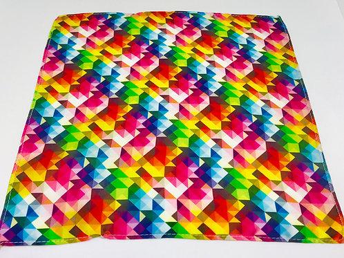 Pocket Square Rainbow Geo