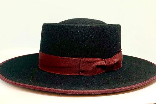 Daquino Riding Hat Black w/Burgundy