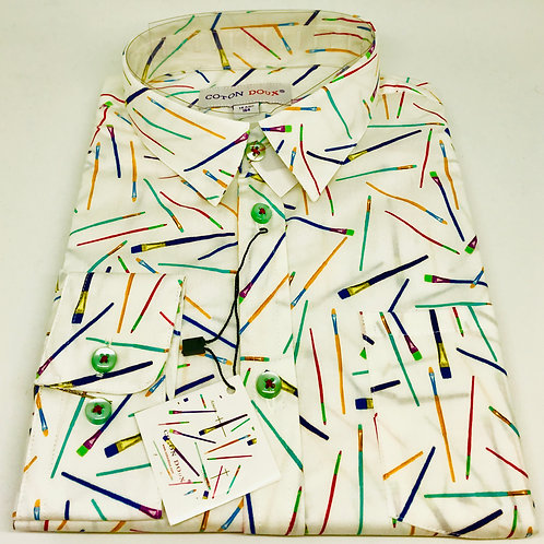 Coton Doux Kids Shirt 'Paint Brushes'