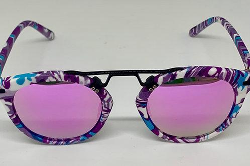 Sunglasses 'Abstrakt Purple'