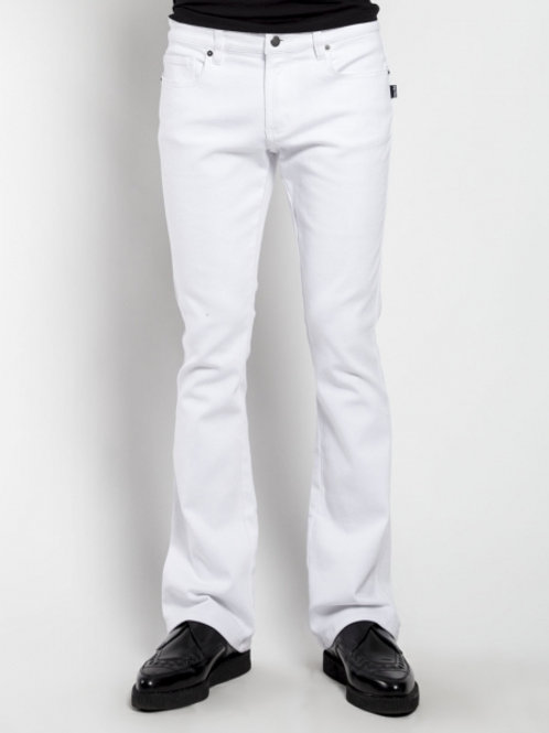 TrippNYC Mens Jeans White Bootcut
