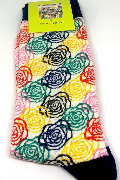Coton Doux Socks 'Rainbow Roses'