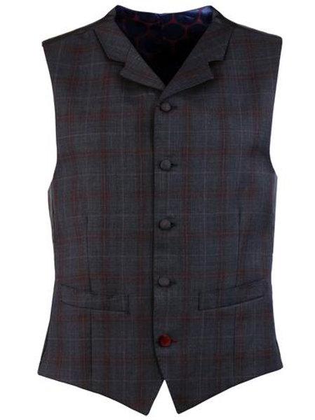 Madcap Waistcoat Mod Plaid Check