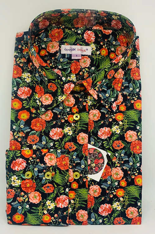 Coton Doux Womens 'Flowers Orange and Pink'