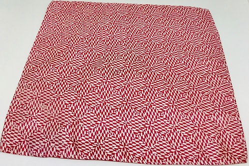 Pocket Square Diamond Red Geo