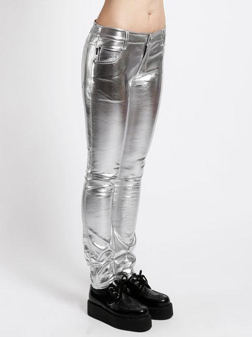 TrippNYC Womens Metallic Skinny Pants