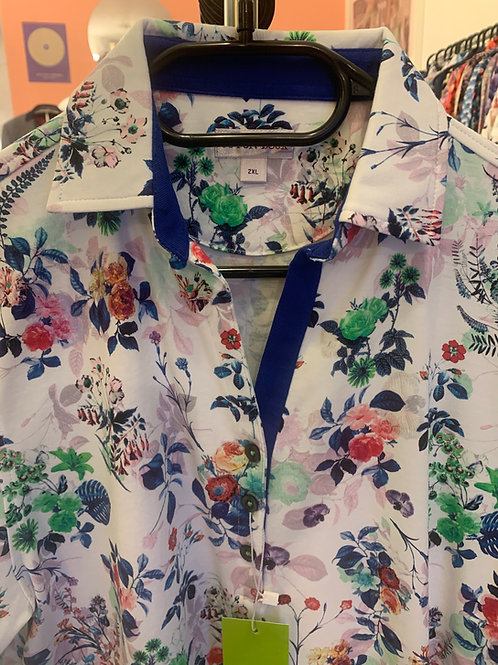 Coton Doux Polo Womens 'Love Flowers'