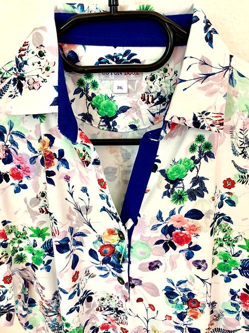 Coton Doux Womens Polo 'Spring Blooms'