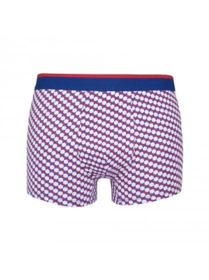 Coton Doux Mens Boxer Briefs 'Geometric Red/White/Blue'