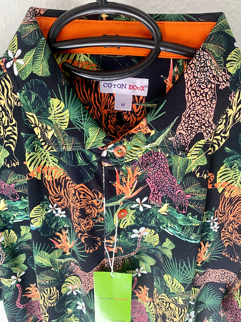Coton Doux Polo 'Big Cats'