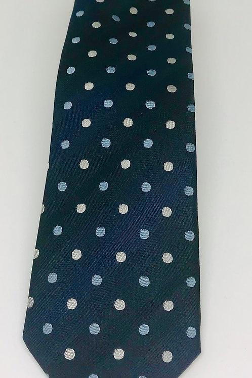 Coton Doux Tie Straight 'Dots on Deep blue'
