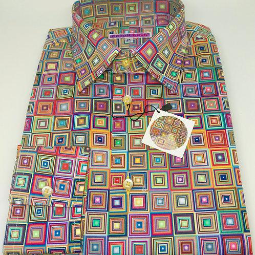 Coton Doux Mens Straight Cut 'Colour Squares'