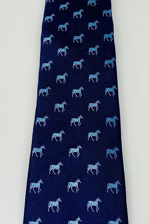 Coton Doux Mens Tie 'Horses on Blue'