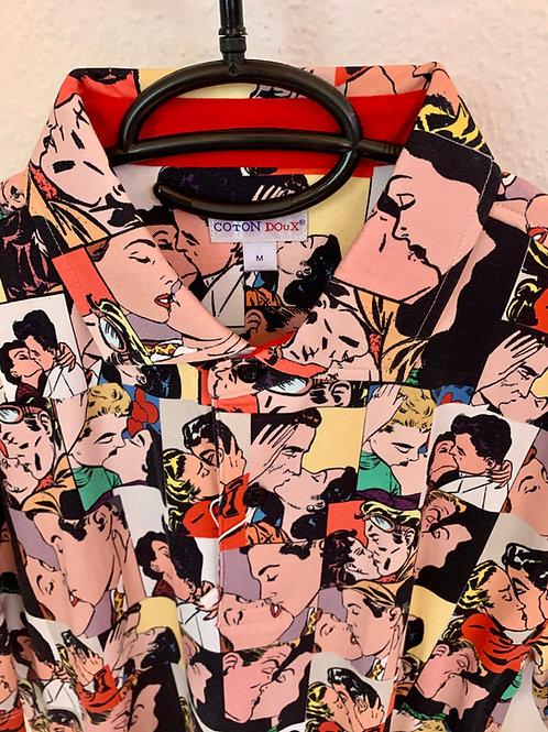 Coton Doux Mens Polo 'The Kiss'