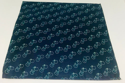 Pocket Square Bicycles on Deep Blue
