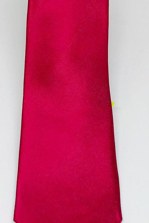 Mens Tie Straight Deep Silky Pink