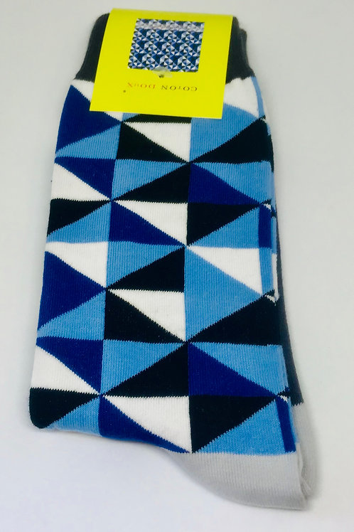 Coton Doux Socks 'Angles in Blue'